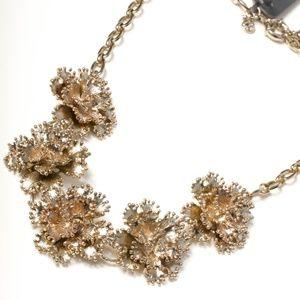 Jcrew golden flower statement necklace